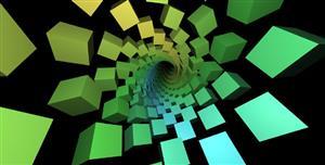 aframe.js穿越隧道VR视觉特效