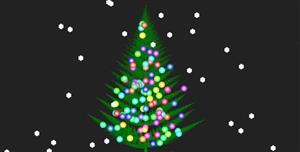 css3+canvas圣诞树下雪