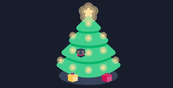 svg圣诞树代码动画效果