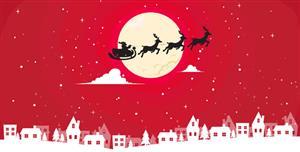 圣诞快乐贺卡SVG动画特效