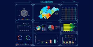 echarts企业发展地区大数据分析统计