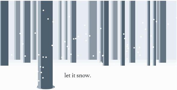 css3+js下雪动画特效