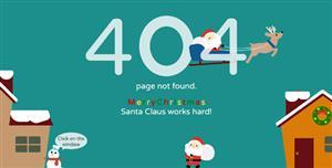 圣诞主题404页面css3动画