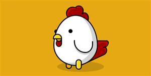 纯css3可爱小公鸡卡通形象
