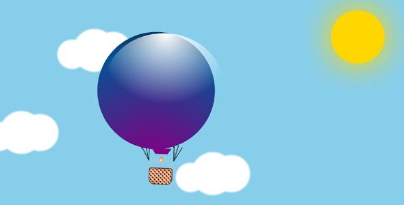 纯css3热气球白云视差动画