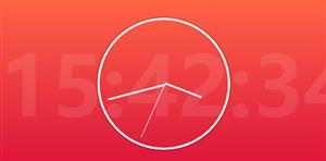 js时间背景时钟插件