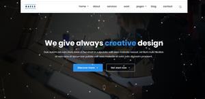 jquery粒子效果科技公司bootstrap网站模板
