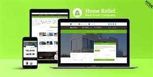 响应式Bootstrap绿色房产中介Html模板