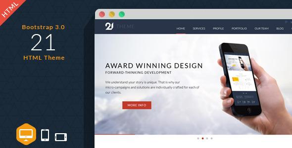 扁平化Bootstrap企业网站单页面模板