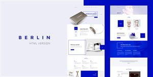 蓝色Bootstrap创意工作室企业网站CSS3模板