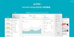 Material Design材料设计后台HTML模板