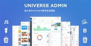 强大的Bootstrap4管理系统模板HTML5后台