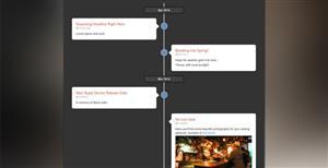 Bootstrap响应式左右时间轴插件纯Css3实现