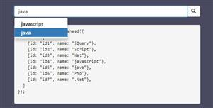 Bootstrap搜索无刷新结果补全插件