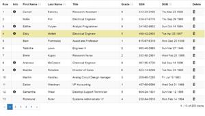 Bootstrap和jQuery动态数据Table表格插件