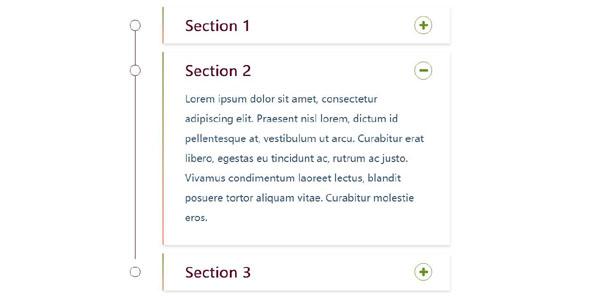 Bootstrap垂直手风琴Accordion插件CSS3