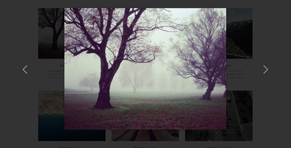 Bootstrap图片画廊弹出大图灯箱覆盖层插件
