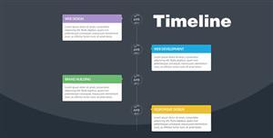 响应式Bootstrap垂直时间轴纯CSS3插件