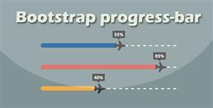 纯css3动画Bootstrap进度条加载百分比插件