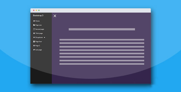 Bootstrap3打开关闭侧边栏导航菜单插件