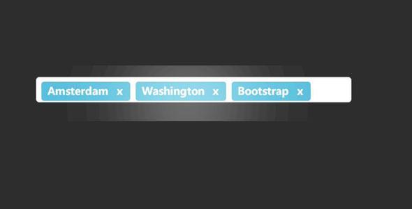 Bootstrap输入框回车生成标签带删除插件