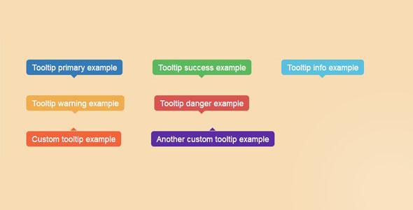 Bootstrap实现多种tooltip提示层插件