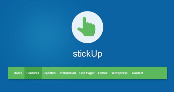 Bootstrap顶部固定导航菜单插件自动隐藏