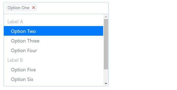 Bootstrap4点击输入框出现下拉菜单选择插件
