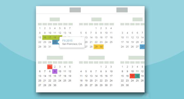 Bootstrap全年日历插件带记事功能