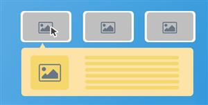 Bootstrap点击伸展气泡panel网格布局插件