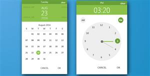 炫酷Bootstrap和材料设计日历时间选择插件