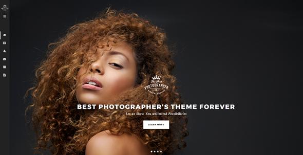 炫酷Bootstrap摄影作品网站模板
