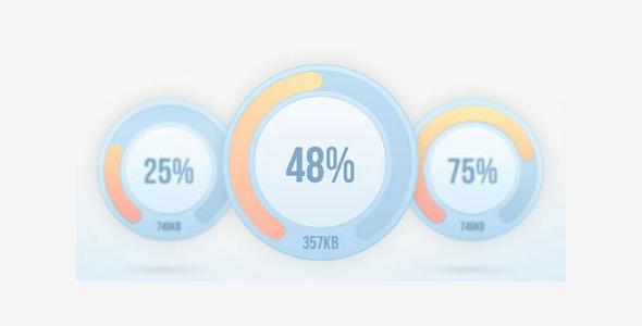 jQuery环形加载进度百分比插件