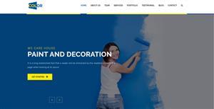 响应蓝色高端装修公司Bootstrap网站模板