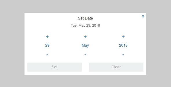 jQuery弹出式日期和时间选择插件