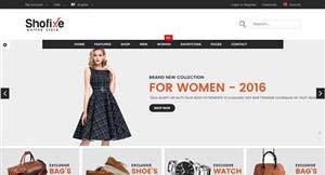 Bootstrap简约黑服装包商城模板
