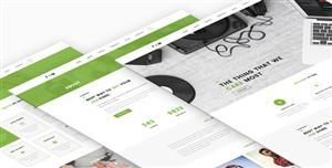 Bootstrap绿色清新企业网站HTML5模板
