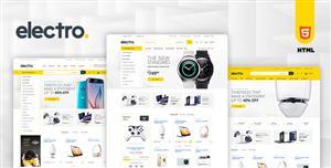 黄色Bootstrap垂直菜单电子商务HTML模板