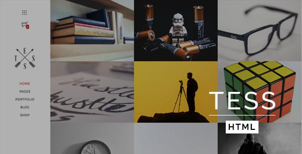 创意Bootstrap图片作品网站模板左侧导航