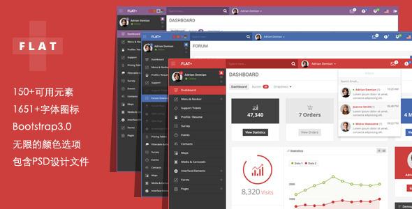 WEB应用程序和管理面板Bootstrap模板