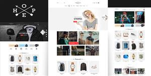 Bootstrap衣服包包电商模板创意简约