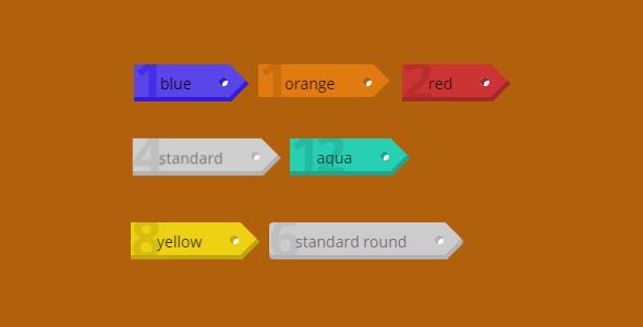 纯CSS3实现标签样式Tags