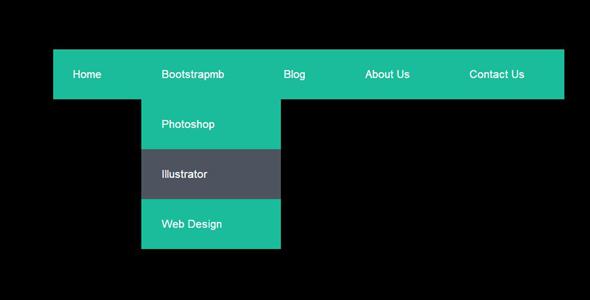 扁平蓝色纯CSS3下拉导航菜单