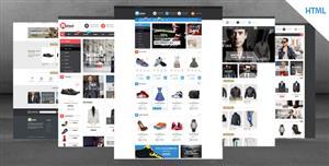 响应式电商HTML5模板4种首页