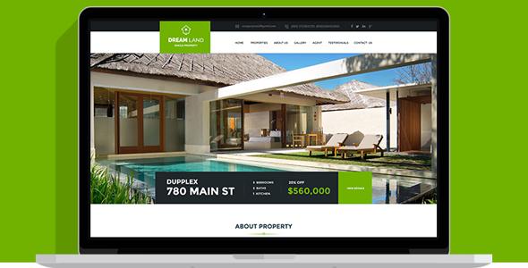 绿色全屏房产中介服务Bootstrap模板