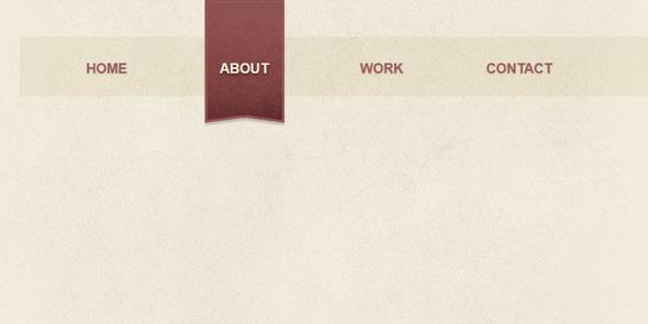 CSS博客网站导航条