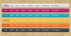CSS3简约网站顶部导航条样式