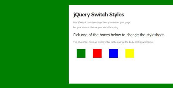 jQuery改变网页背景颜色切换的方法