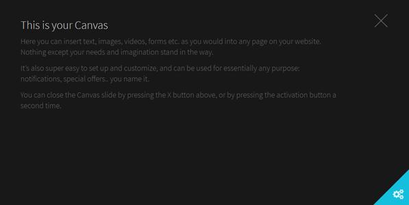 js全屏覆盖插件右下角隐藏Canvas