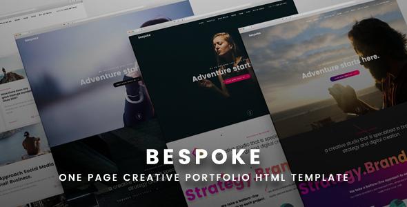创意单页滚动HTML5视差模板